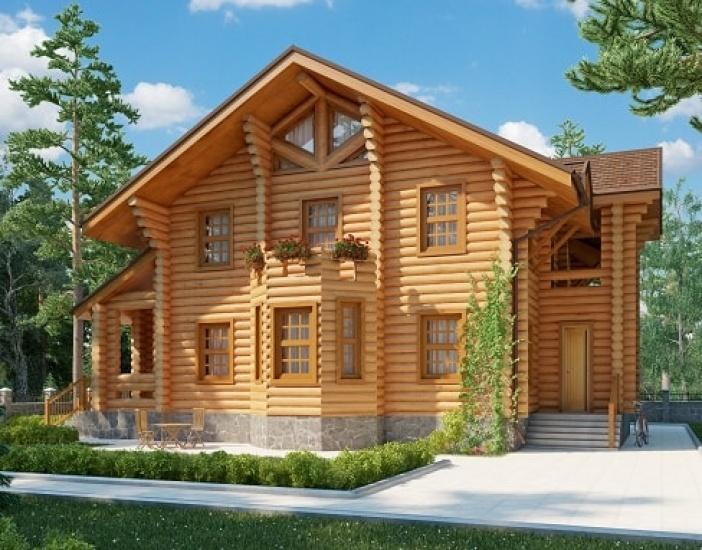 БВ011 - Двухэтажный Дома из бревна без гаража