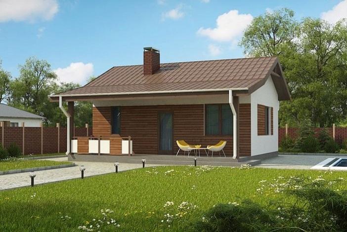 БР011 - Одноэтажный Дома из бруса без гаража