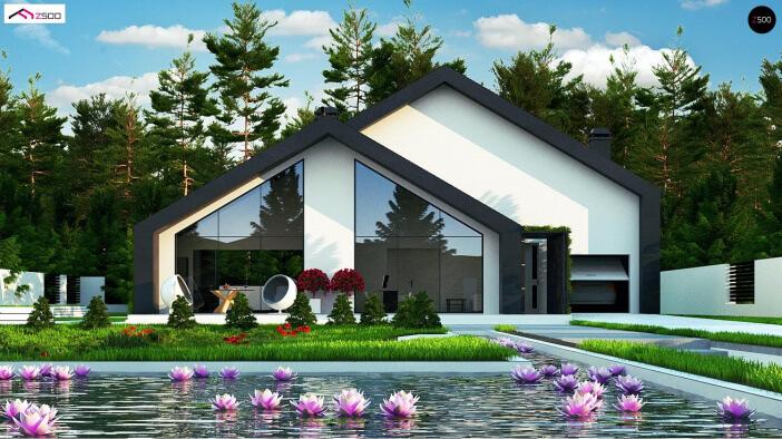 КР30 - Мансардный Каркасные дома с гаражом