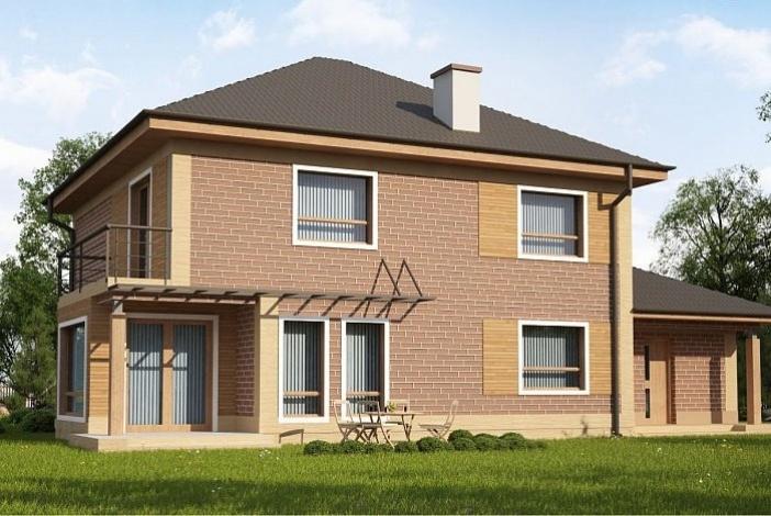 кп004 - Двухэтажный Кирпичные дома с гаражом