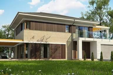 КР002 - Двухэтажный Каркасные дома с гаражом