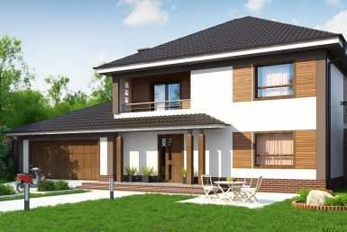 КР003 - Двухэтажный Каркасные дома с гаражом