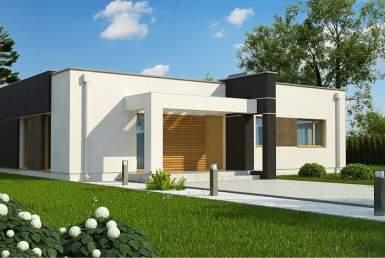 КР004 - Одноэтажный Каркасные дома без гаража
