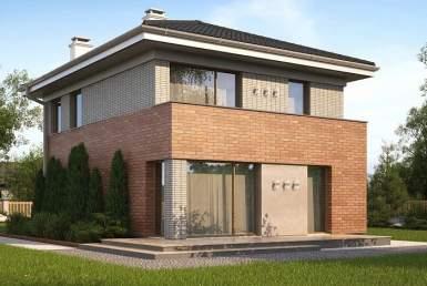 кп003 - Двухэтажный Кирпичные дома без гаража