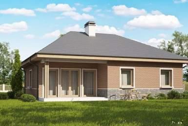 кп007 - Одноэтажный Кирпичные дома без гаража