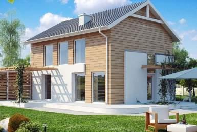 БР002 - Двухэтажный Дома из бруса без гаража