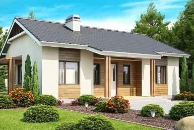 КР006 - Одноэтажный Каркасные дома без гаража