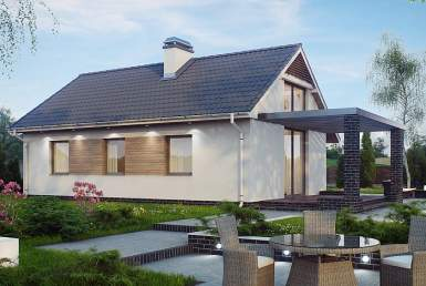КР007 - Одноэтажный Каркасные дома без гаража