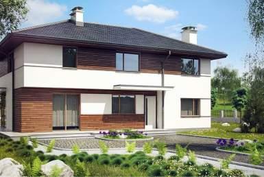 КР008 - Двухэтажный Каркасные дома без гаража