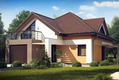 КР012 - Мансардный Каркасные дома с гаражом
