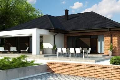 кп013 - Одноэтажный Кирпичные дома с гаражом