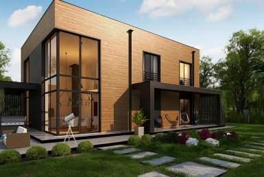 БР003 - Двухэтажный Дома из бруса без гаража