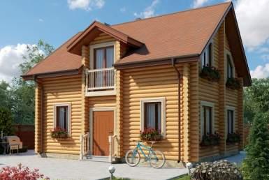 БВ003 - Двухэтажный Дома из бревна без гаража