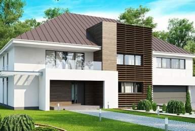 КР018 - Двухэтажный Каркасные дома с гаражом