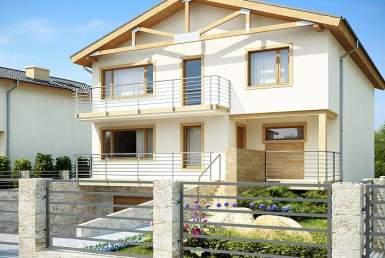 БК018 - Двухэтажный Дома из блоков без гаража