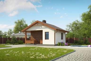 КР020 - Одноэтажный Каркасные дома без гаража