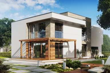 КР026 - Двухэтажный Каркасные дома с гаражом