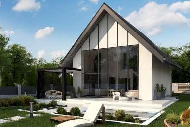 КР031 - Мансардный Каркасные дома без гаража