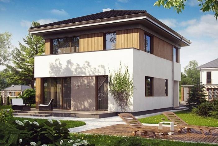 КР013 - Двухэтажный Каркасные дома без гаража