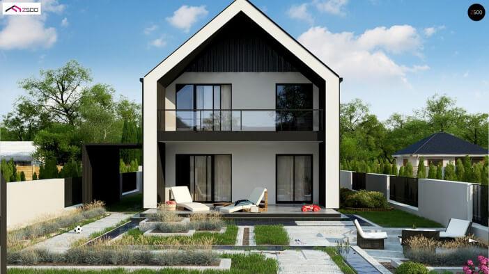 КР032 - Мансардный Каркасные дома без гаража