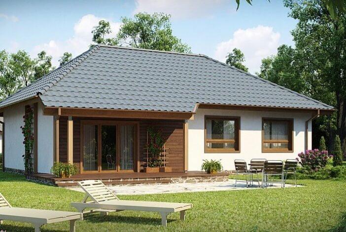БК010 - Одноэтажный Дома из блоков без гаража