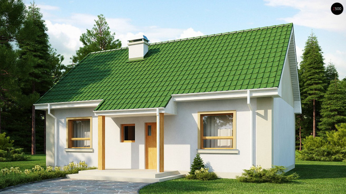 КР023 - Одноэтажный Каркасные дома без гаража