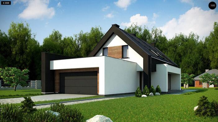 КР033 - Мансардный Каркасные дома с гаражом