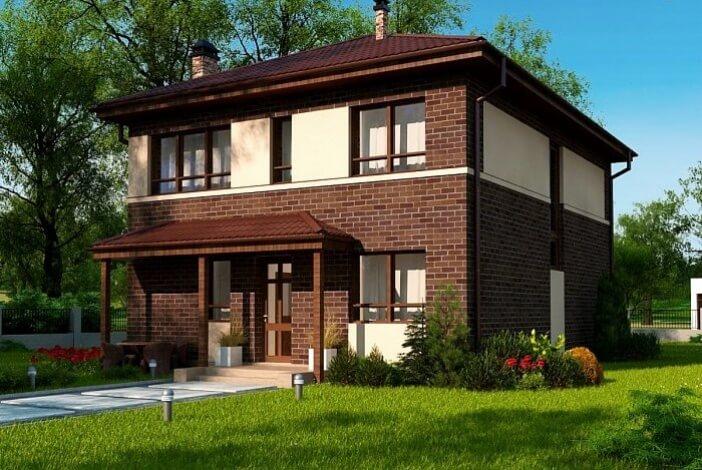 кп005 - Двухэтажный Кирпичные дома без гаража