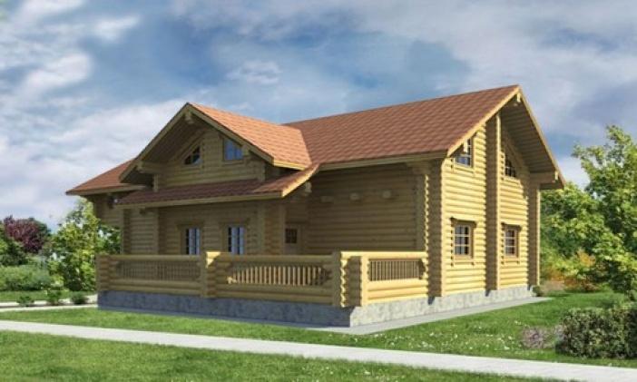 БВ007 - Двухэтажный Дома из бревна без гаража