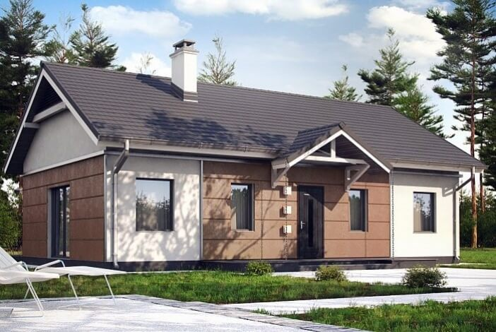 КР011 - Одноэтажный Каркасные дома без гаража