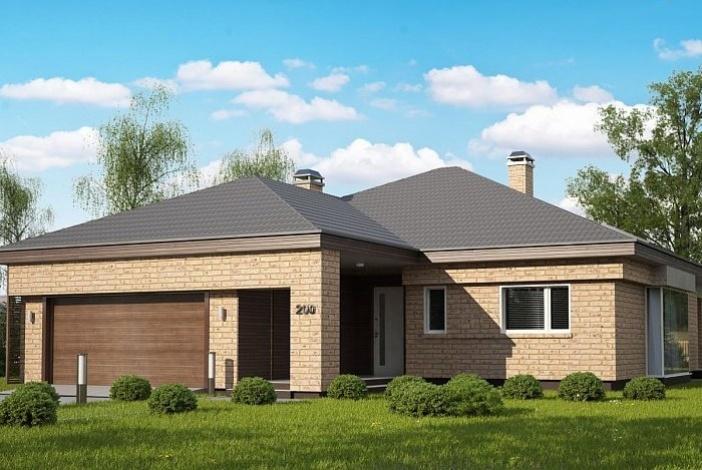 кп002 - Одноэтажный Кирпичные дома с гаражом