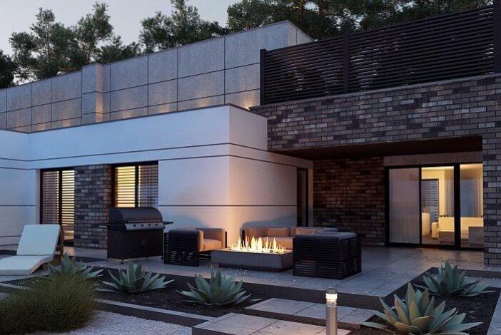 кп017 - Двухэтажный Кирпичные дома с гаражом