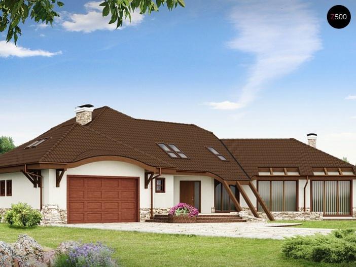 КР016 - Мансардный Каркасные дома с гаражом