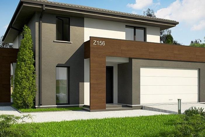 КР001 - Двухэтажный Каркасные дома с гаражом