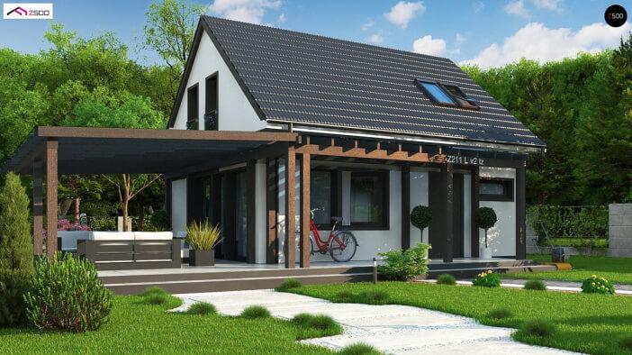КР029 - Мансардный Каркасные дома без гаража