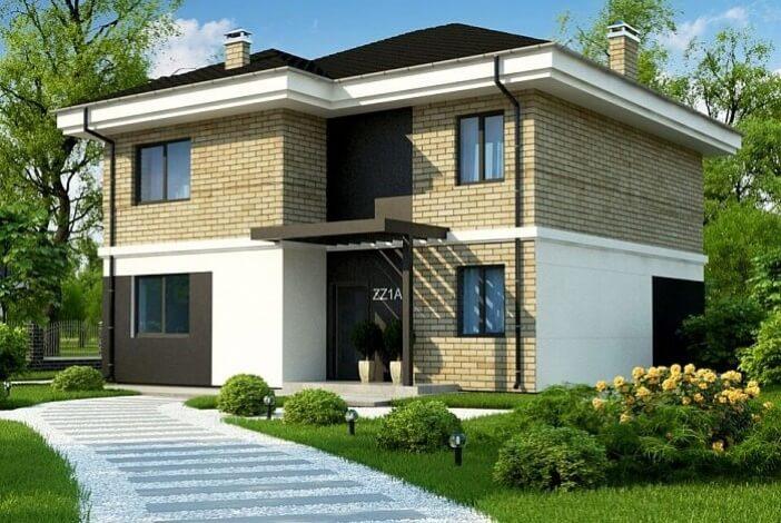 кп010 - Двухэтажный Кирпичные дома без гаража