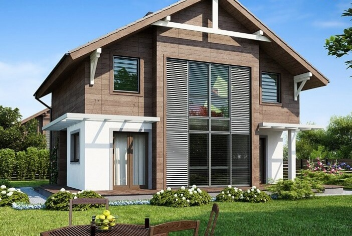 БР008 - Двухэтажный Дома из бруса без гаража