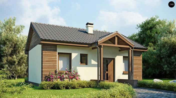 КР021 - Одноэтажный Каркасные дома без гаража
